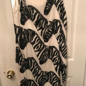Anthropologie Dresses - Anthropologie Beaded Zebra Dress